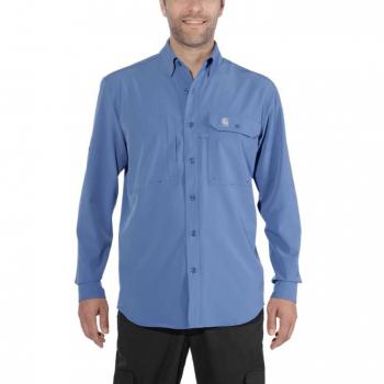 vetipro vente en ligne vetements pro chemise de peche avec upf homme federal blue 103011 federal blue