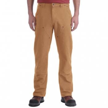 vetipro vente en ligne vetements pro pantalon salopette extensible droit duck homme double a lavant carhartt brown 103340 brown 1