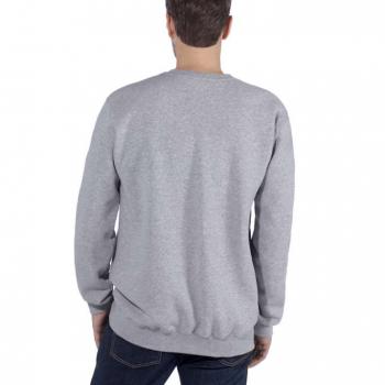 vetipro vente en ligne vetements pro sweat shirt col ras du coup lettrage carhartt heather grey 103853 heather grey 2