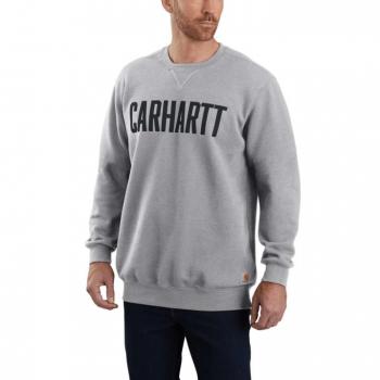 vetipro vente en ligne vetements pro sweat shirt col ras du coup lettrage carhartt heather grey 103853 heather grey