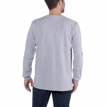 vetipro vente en ligne vetements pro t shirt a manches longues emea logo central carhartt heather grey 104107 heather grey 2