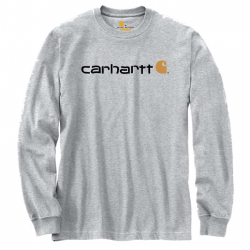 vetipro vente en ligne vetements pro t shirt a manches longues emea logo central carhartt heather grey 104107 heather grey