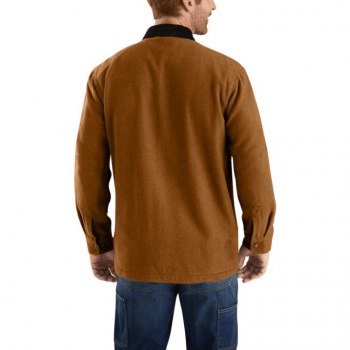 vetipro vente en ligne vetements pro veste chemise zippee doublure molleton carhartt oiled walnut 104074 oiled walnut 2