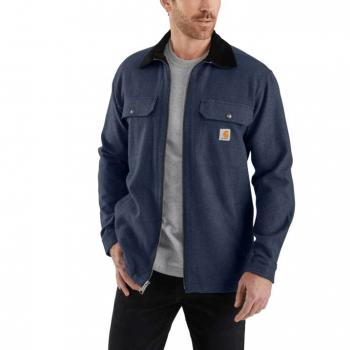 vetipro vente en ligne vetements pro veste chemise zippee doublure molleton carhartt twilight 104074 twilight